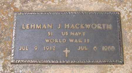 HACKWORTH (VETERAN WWII), LEHMAN J. - Lawrence County, Arkansas | LEHMAN J. HACKWORTH (VETERAN WWII) - Arkansas Gravestone Photos