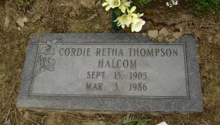 THOMPSON HALCOM, CORDIE RETHA - Lawrence County, Arkansas | CORDIE RETHA THOMPSON HALCOM - Arkansas Gravestone Photos