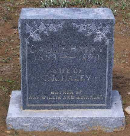 "HALEY, CAROLINE ""CALLIE"" - Lawrence County, Arkansas 