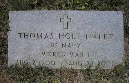 HALEY (VETERAN WWI), THOMAS HOLT - Lawrence County, Arkansas | THOMAS HOLT HALEY (VETERAN WWI) - Arkansas Gravestone Photos
