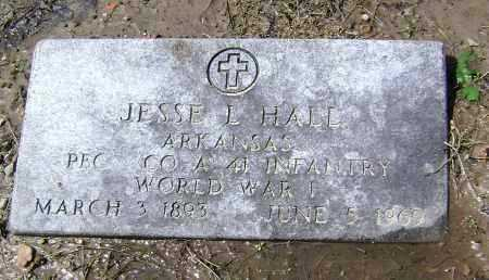 HALL  (VETERAN WWI), JESSE L - Lawrence County, Arkansas | JESSE L HALL  (VETERAN WWI) - Arkansas Gravestone Photos