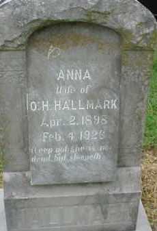 WEBB HALLMARK, ANNA - Lawrence County, Arkansas | ANNA WEBB HALLMARK - Arkansas Gravestone Photos