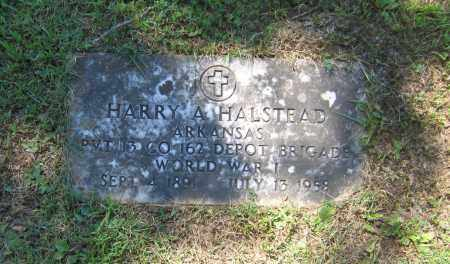 "HALSTEAD (VETERAN WWI), HARVEY A. ""HARRY"" - Lawrence County, Arkansas 
