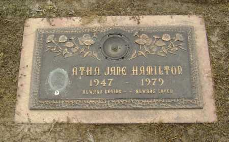 HAMILTON, ATHA JANE - Lawrence County, Arkansas | ATHA JANE HAMILTON - Arkansas Gravestone Photos