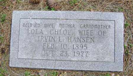 HANSEN, LOLA CHLOE - Lawrence County, Arkansas | LOLA CHLOE HANSEN - Arkansas Gravestone Photos