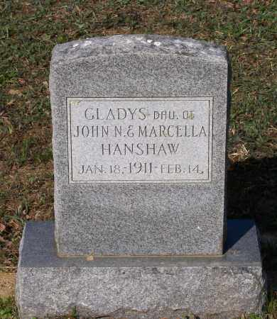 HANSHAW, GLADYS - Lawrence County, Arkansas | GLADYS HANSHAW - Arkansas Gravestone Photos