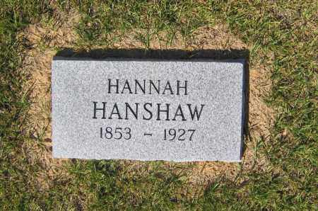 HANSHAW, HANNAH - Lawrence County, Arkansas | HANNAH HANSHAW - Arkansas Gravestone Photos