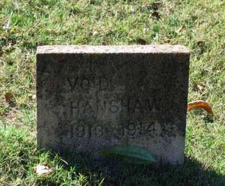 HANSHAW, VOID - Lawrence County, Arkansas | VOID HANSHAW - Arkansas Gravestone Photos