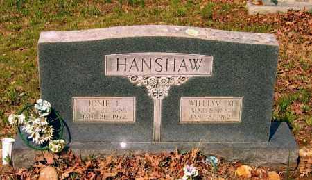 "HANSHAW, JOSEPHINE F. ""JOSIE"" - Lawrence County, Arkansas | JOSEPHINE F. ""JOSIE"" HANSHAW - Arkansas Gravestone Photos"