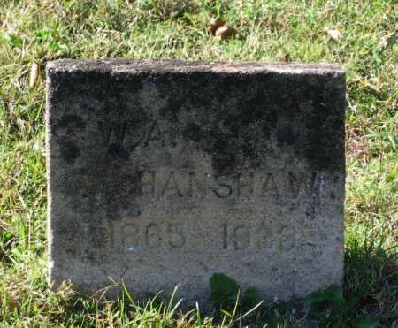 "HANSHAW, WILLIAM A. ""W. A."" - Lawrence County, Arkansas | WILLIAM A. ""W. A."" HANSHAW - Arkansas Gravestone Photos"