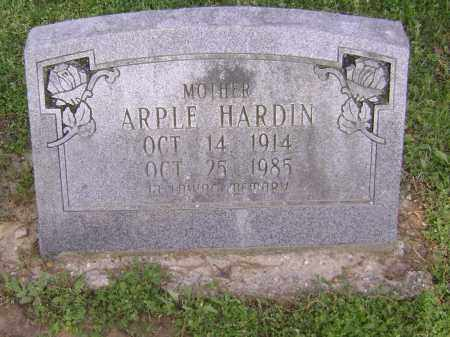 HARDIN, ARPLE - Lawrence County, Arkansas | ARPLE HARDIN - Arkansas Gravestone Photos