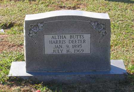 DEETER, ALTHA BUTTS HARRIS - Lawrence County, Arkansas | ALTHA BUTTS HARRIS DEETER - Arkansas Gravestone Photos