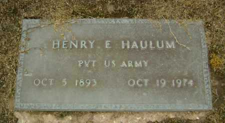 HAULUM  (VETERAN), HENRY EARNEST - Lawrence County, Arkansas | HENRY EARNEST HAULUM  (VETERAN) - Arkansas Gravestone Photos