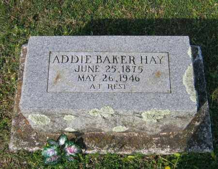BAKER HAY, ADDIE - Lawrence County, Arkansas | ADDIE BAKER HAY - Arkansas Gravestone Photos