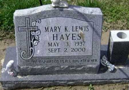 HAYES, MARY K. - Lawrence County, Arkansas | MARY K. HAYES - Arkansas Gravestone Photos