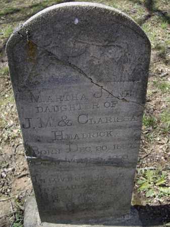 HEADRICK, MARTHA JANE - Lawrence County, Arkansas | MARTHA JANE HEADRICK - Arkansas Gravestone Photos