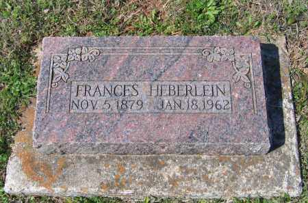 HEBERLEIN, FRANCES - Lawrence County, Arkansas | FRANCES HEBERLEIN - Arkansas Gravestone Photos