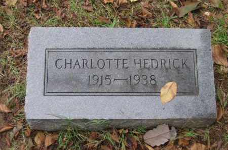 HEDRICK, CHARLOTTE - Lawrence County, Arkansas | CHARLOTTE HEDRICK - Arkansas Gravestone Photos