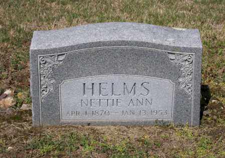 "HELMS, HENRYETTA ANN DAVIS GOAD ""NETTIE"" - Lawrence County, Arkansas 