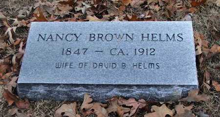 BROWN HELMS, NANCY - Lawrence County, Arkansas | NANCY BROWN HELMS - Arkansas Gravestone Photos
