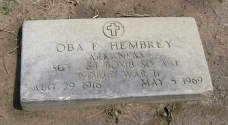 HEMBREY  (VETERAN WWII), OBA F - Lawrence County, Arkansas | OBA F HEMBREY  (VETERAN WWII) - Arkansas Gravestone Photos