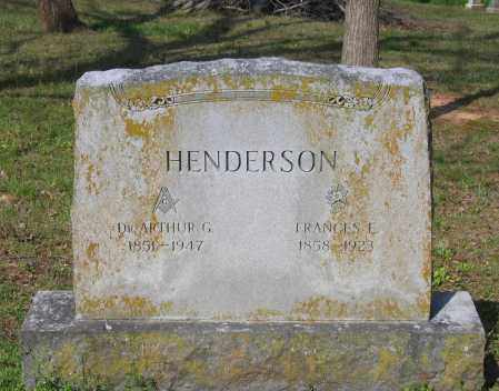 HENDERSON, MD, ARTHUR G. - Lawrence County, Arkansas | ARTHUR G. HENDERSON, MD - Arkansas Gravestone Photos
