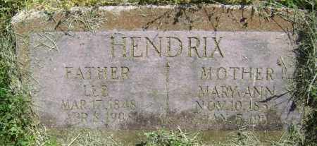 HENDRIX, MARY ANN - Lawrence County, Arkansas | MARY ANN HENDRIX - Arkansas Gravestone Photos
