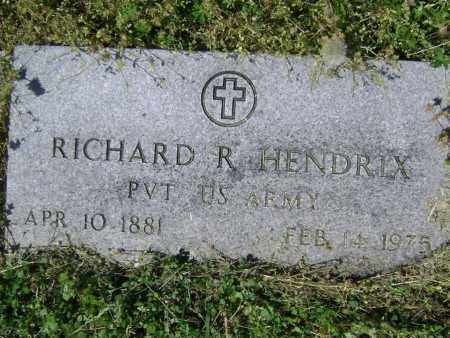 HENDRIX (VETERAN WWI), RICHARD R. - Lawrence County, Arkansas | RICHARD R. HENDRIX (VETERAN WWI) - Arkansas Gravestone Photos