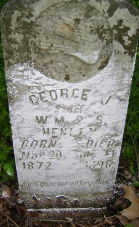 HENLEY, GEORGE J. - Lawrence County, Arkansas | GEORGE J. HENLEY - Arkansas Gravestone Photos