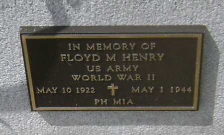 HENRY (VETERAN WWII, MIA), FLOYD M - Lawrence County, Arkansas | FLOYD M HENRY (VETERAN WWII, MIA) - Arkansas Gravestone Photos