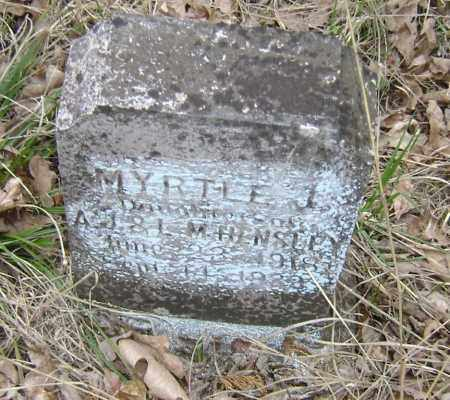 HENSLEY, MYRTLE J. - Lawrence County, Arkansas | MYRTLE J. HENSLEY - Arkansas Gravestone Photos