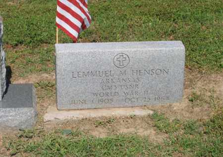 HENSON (VETERAN WWII), LEMMUEL M. - Lawrence County, Arkansas | LEMMUEL M. HENSON (VETERAN WWII) - Arkansas Gravestone Photos