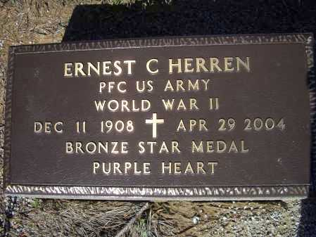 HERREN (VETERAN WWII), ERNEST CLIFTON - Lawrence County, Arkansas | ERNEST CLIFTON HERREN (VETERAN WWII) - Arkansas Gravestone Photos