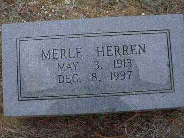 HERREN, MERLE M. - Lawrence County, Arkansas | MERLE M. HERREN - Arkansas Gravestone Photos
