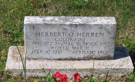 HERREN (VETERAN WWII), HERBERT O - Lawrence County, Arkansas | HERBERT O HERREN (VETERAN WWII) - Arkansas Gravestone Photos