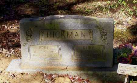 HICKMAN, BERL - Lawrence County, Arkansas | BERL HICKMAN - Arkansas Gravestone Photos