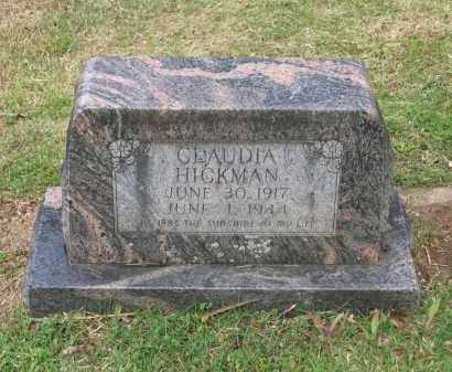 HICKMAN, CLAUDIA - Lawrence County, Arkansas | CLAUDIA HICKMAN - Arkansas Gravestone Photos