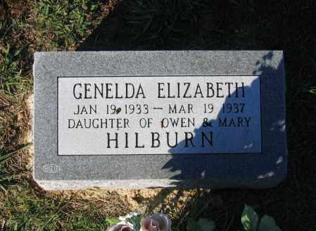 HILBURN, GENELDA ELIZABETH - Lawrence County, Arkansas | GENELDA ELIZABETH HILBURN - Arkansas Gravestone Photos