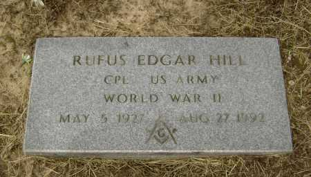 HILL  (VETERAN WWII), RUFUS EDGAR - Lawrence County, Arkansas | RUFUS EDGAR HILL  (VETERAN WWII) - Arkansas Gravestone Photos