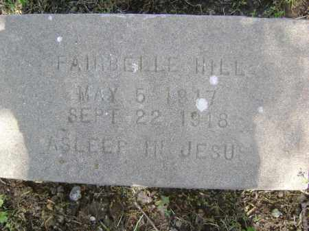 HILL, FAIRBELLE - Lawrence County, Arkansas | FAIRBELLE HILL - Arkansas Gravestone Photos