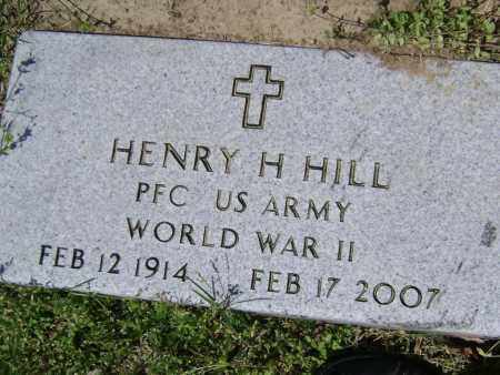 HILL (VETERAN WWII), HENRY H. - Lawrence County, Arkansas | HENRY H. HILL (VETERAN WWII) - Arkansas Gravestone Photos