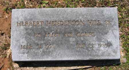 HILL, SR. (VETERAN WWII), HERBERT HENDERSON - Lawrence County, Arkansas | HERBERT HENDERSON HILL, SR. (VETERAN WWII) - Arkansas Gravestone Photos