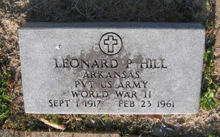HILL (VETERAN WWII), LEONARD PAUL - Lawrence County, Arkansas | LEONARD PAUL HILL (VETERAN WWII) - Arkansas Gravestone Photos