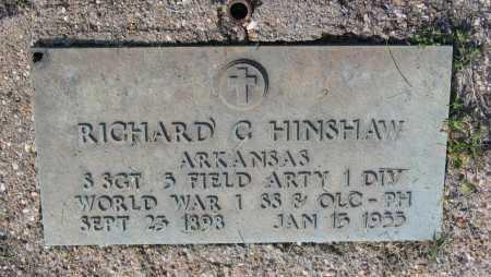 HINSHAW (VETERAN WWI), RICHARD CARRON - Lawrence County, Arkansas | RICHARD CARRON HINSHAW (VETERAN WWI) - Arkansas Gravestone Photos