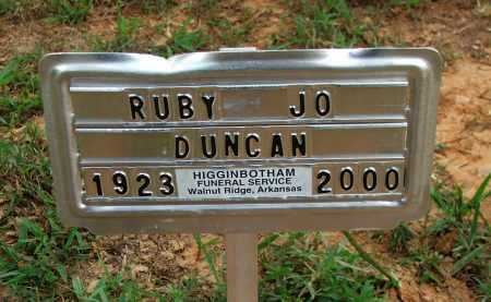 DUNCAN, RUBY JO BURNETT HINSON - Lawrence County, Arkansas | RUBY JO BURNETT HINSON DUNCAN - Arkansas Gravestone Photos