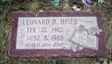 HISER, LEONARD H. - Lawrence County, Arkansas | LEONARD H. HISER - Arkansas Gravestone Photos