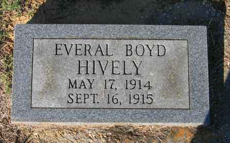 HIVELY, EVERAL BOYD - Lawrence County, Arkansas | EVERAL BOYD HIVELY - Arkansas Gravestone Photos