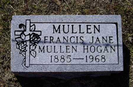 "MULLEN HOGAN, FRANCIS  ""FANNIE"" JANE - Lawrence County, Arkansas 