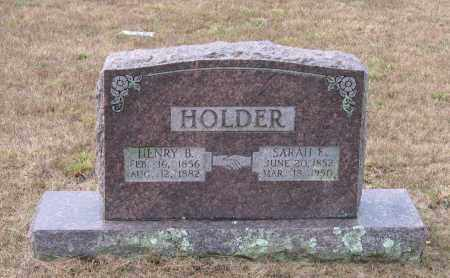 HOLDER, SARAH ELIZABETH - Lawrence County, Arkansas | SARAH ELIZABETH HOLDER - Arkansas Gravestone Photos
