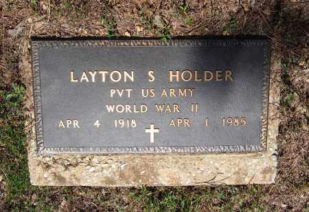 HOLDER (VETERAN WWII), LAYTON STANLEY - Lawrence County, Arkansas | LAYTON STANLEY HOLDER (VETERAN WWII) - Arkansas Gravestone Photos